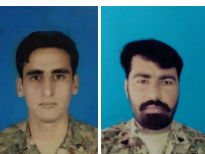 Pakistan Army two soldiers martyred, two terrorists killed in an intelligence-based operation