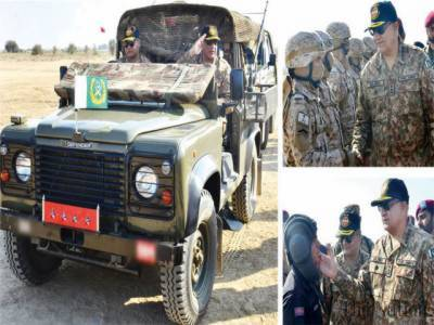 Pakistan Military Chief sends a stern warning to enemy during strike corps menuvers near borders along with Saudi military troops