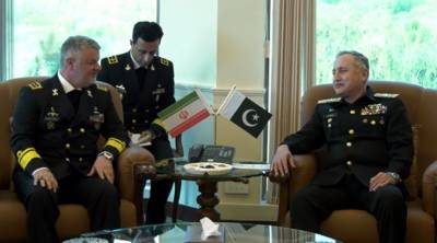 Iranian Navy Commander held important meeting with Pakistani Naval Chief