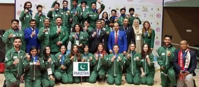 Pakistani Athletes clinch 110 medals including 29 Golds in the South Asian Games