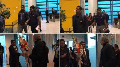 Sri Lankan Cricket team arrived in Islamabad