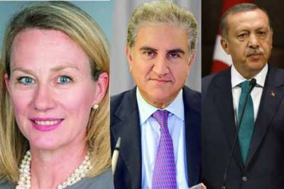 Pakistan FM Qureshi held important meeting with US top diplomat Alice Wells