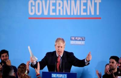 British PM Boris Johnson conservative party secured sweeping victory in 650 member house