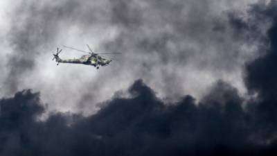 Military helicopter crashed during training flight killing both pilots