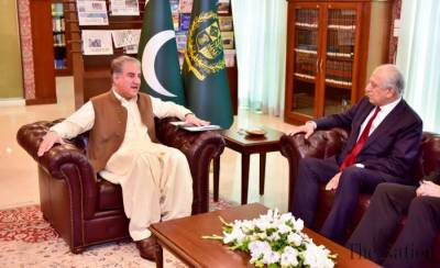 Pakistan FM Shah Mehmood Qureshi held important meeting with US top envoy Zalmay Khalilzad