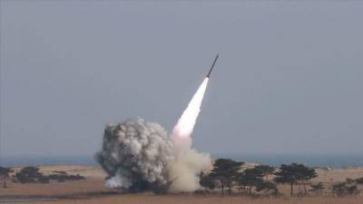 Air Defence system intercepts Israeli military ballistic. Missile