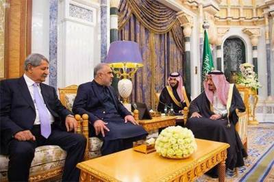 Saudi King Salman bin Abdul Aziz met Pakistani NA speaker Asad Qaiser in Riyadh