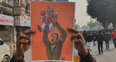 In a big embarassment, German TV shows posters of Indian PM Modi in comparison with dictator Hitler