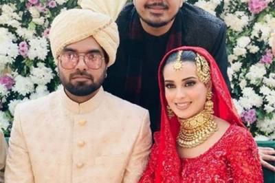 Renowned Pakistani couple Iqra Aziz and Yasir Hussain tied the knot