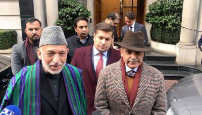 Former Afghan President Hamid Karzai met with Sharif brothers in London