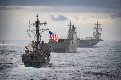 Russian and American warships narrowly avoid collision in international waters