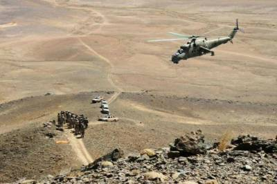 Military Helicopter crashed during a combat mission