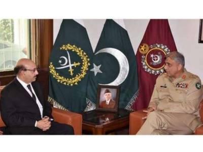 COAS General Qamar Bajwa gives assurances to the President of the Azad Jammu and Kashmir