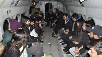 Pakistan Army rescued 22 youngsters from LUMS stranded in Gilgit Baltistan heavy snowfall