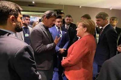 Pakistani PM Imran Khan held informal meeting with German Chancellor Angela Merkel