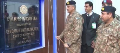 COAS General Qamar Bajwa visited National Radio Telecommunication Corporation, Pakistan's world class EW facility