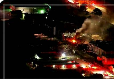 Massive explosion ripped through a building in Houston US