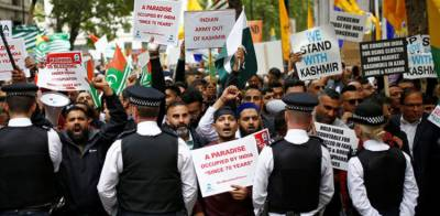 Massive Anti India protests held outside Indian High Commission in London