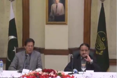 PM Imran Khan refuse to surrender before pressure, vow to face challenges