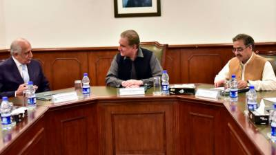 US special envoy Zalmay Khalilzad held important meeting with Pakistan FM Shah Mehmood Qureshi