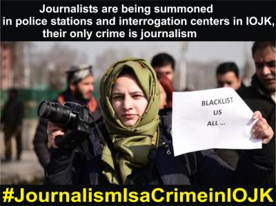 In Occupied Kashmir, Journalists face harassment and threats of violence