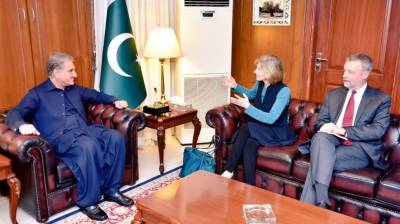 Pakistani FM Shah Mehmood Qureshi held important meeting with the President of US Institute of Peace
