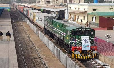 In a positive development, Pakistan Railways launches cross border transit freight train service to neighbouring country