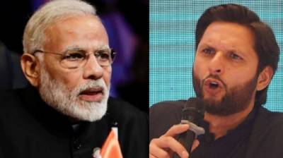 Former Pakistani Skipper Shahid Afridi lashes out at Indian PM Narendra Modi being the main culprit