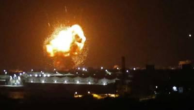 Israeli Air Force launched Air Strikes near Syrian capital Damascus