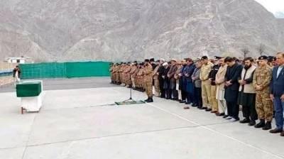 NamazJanaza of martyred Colonel Mujeebur offered in Gilgit