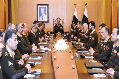 Chief of Army Staff General Qamar Bajwa chaired Corps Commanders Conference in GHQ, Important decisions taken
