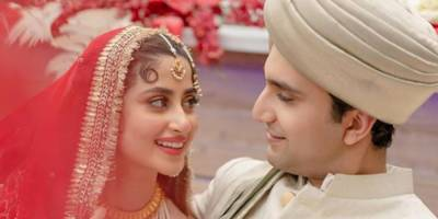 Pakistani Celebrity star Sajal Aly ties the knot with Ahad Raza Mir in Abu Dhabi UAE