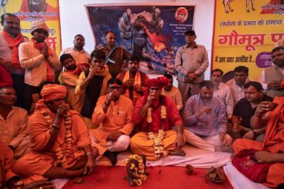 Hindu cow urine drinkers in India offer cure of Coronavirus through cow urine