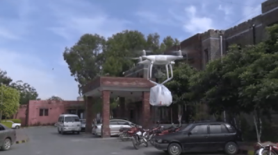 Pakistani Doctors in this government hospital use drone to deliver medicines during coronavirus lockdown