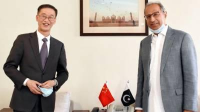 Chinese Ambassador held important meeting with Pakistani Finance Advisor Hafeez Sheikh in Islamabad