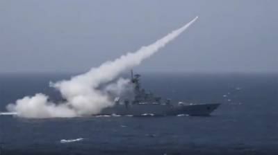 Pakistan Navy successfully test fires anti ship missile firing in North Arabian Sea
