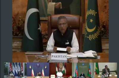 Pakistani President Arif Alvi exposed Indian brutalities in Occupied Kashmir during NAM Summit