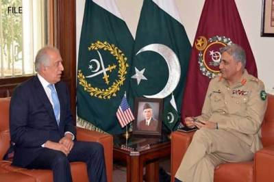 Top US Envoy Zalmay Khalilzad held important meeting with Pakistani Army Chief General Qamar Bajwa