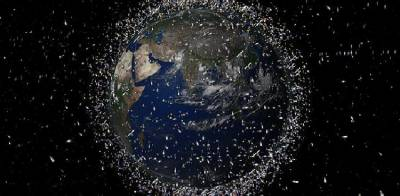 Russian Rocket blasts into space leaving debris around the earth