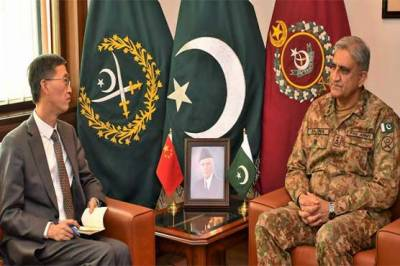 Chinese Ambassador to Pakistan held important meeting with COAS General Qamar Bajwa in GHQ