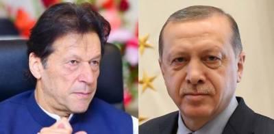 Turkish President Tayyip Erdogan held important telephonic call with Pakistan PM Imran Khan