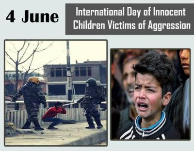 International Day of Innocent Children Victims of Aggression being observed today