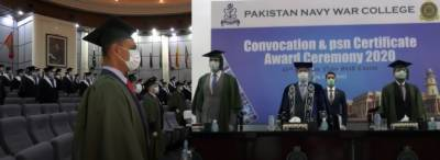 Convocation ceremony of 49th Pakistan Navy staff course held at Pakistan Navy War College Lahore