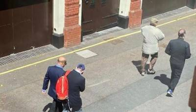 Another photo leak: Former PM Nawaz Sharif found taking a stroll on streets of London with son Hussain Nawaz