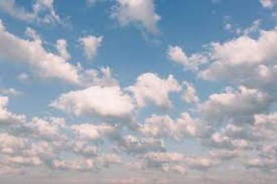 Partly cloudy weather forecast for city