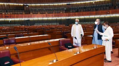Asad Qaiser examines seating arrangements for NA session