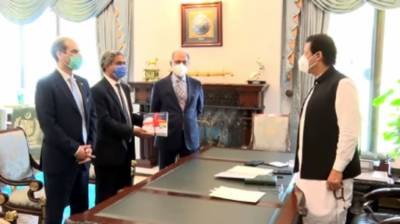 Finance Adviser presents copy of Economic Survey to PM