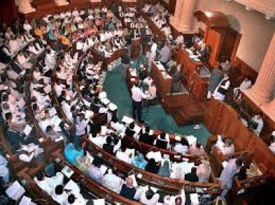 Opposition stages protest during budget speech in PA