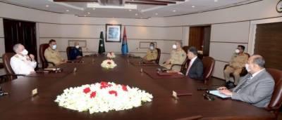 Military leadership briefed on regional security, situation of LOC & IOJ&K