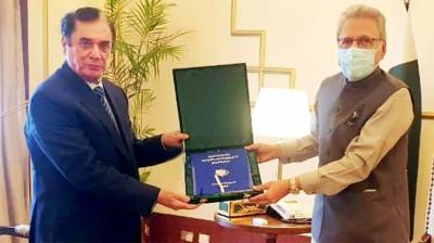Chairman NAB presents President annual report of bureau